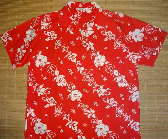 Mens Vintage 50s Casual Elegance Hawaiian Aloha Sh