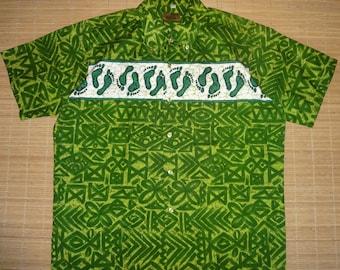 Mens Vintage 60s Liberty House Hang Ten Hawaiian Shirt - L - The Hana Shirt Co