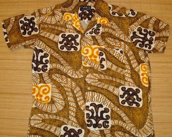 Mens Vintage 60s Aloha Rayon Wicked Wonder Hawaiian Shirt - M -  The Hana Shirt Co