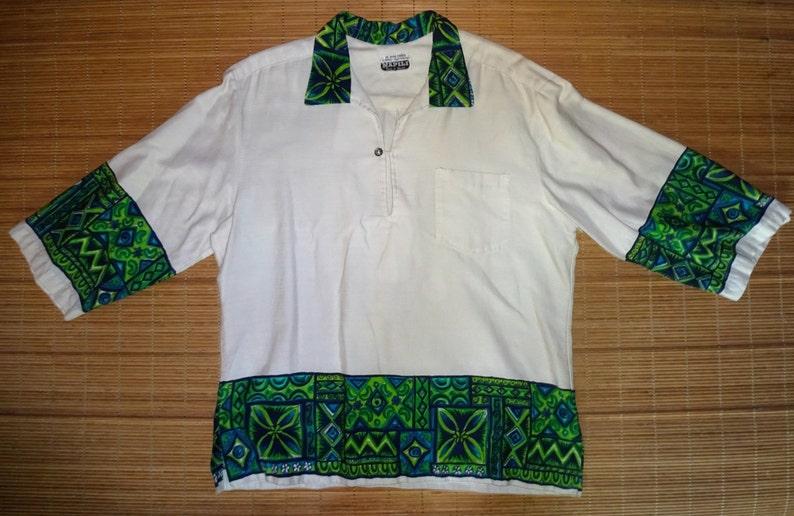 bb01ce1e Mens Vintage 60's Napili Tribal Tiki Hawaiian Aloha Shirt | Etsy