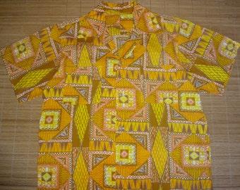 Mens Vintage Aloha Golden Isle Hawaiian Shirt - M -  The Hana Shirt Co