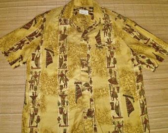 Vintage 60s McInerny's Rockabilly Mod Hawaiian Aloha Surf Shirt - M - The Hana Shirt Co