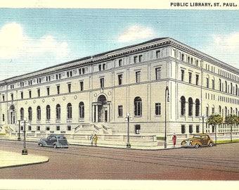 St. Paul, Minnesota, Public Library - Vintage Postcard - Postcard - Unused (HHH)
