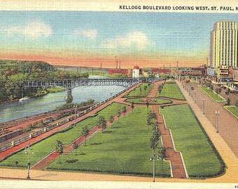 St. Paul, Minnesota, Kellogg Boulevard - Vintage Postcard - Postcard - Unused (YY)
