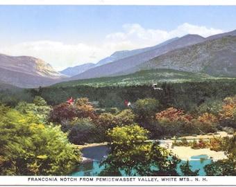 Franconia Notch, Pemigewasset Valley, White Mountains, New Hampshire - Vintage Postcard - Postcard -Unused (U)