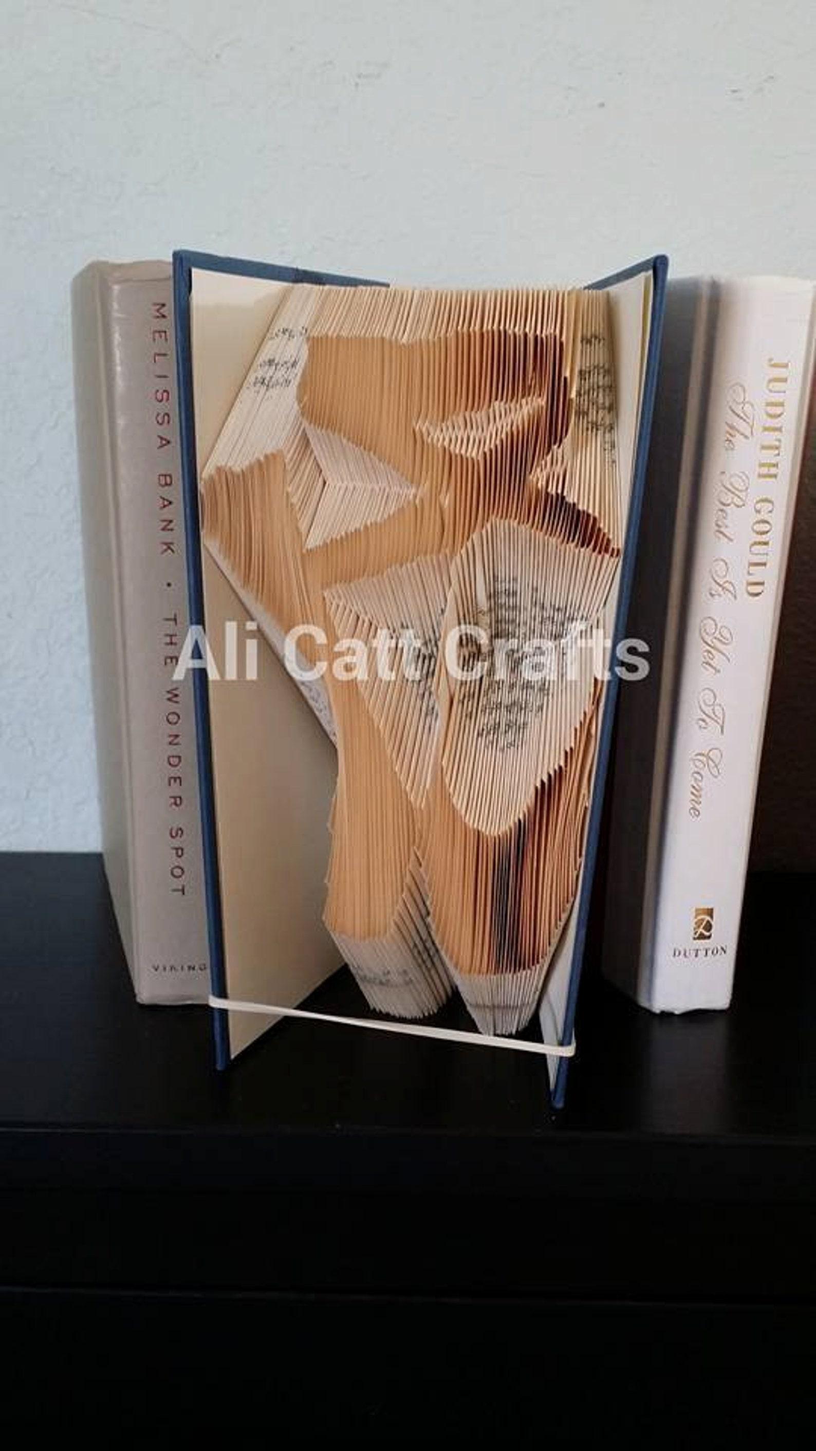 143 - ballet shoes - book folding pattern