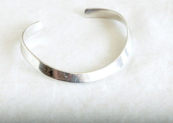 Sterling Cuff Bracelet Vintage Taxco Mexico Sterling Silver Brass Layering Cuff Bracelet Silver Brass Bracelet Taxco Silver Jewelry