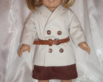 18 Inch Doll Double Breasted Jacket and Skirt
