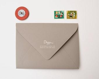 Mid-Century Custom Return Address Stamp