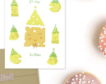 Say Cheese! - One Folded Greeting Card with Matching Envelope & Seal