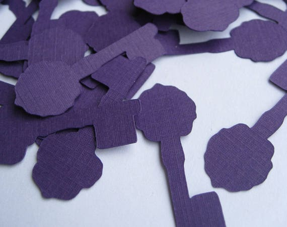 500 Key Confetti. CHOOSE Your COLORS. 1.5 inch. Wedding, Birthday, Shower, Alice In Wonderland, Victorian.