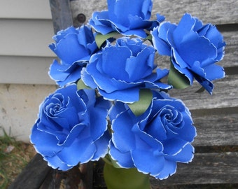 Wedding Bouquet Royal Blue Etsy