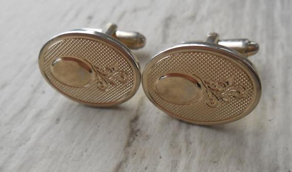 Vintage Gold Cufflinks. Wedding, Christmas, Groomsmen Gift, Dad, Father's Day