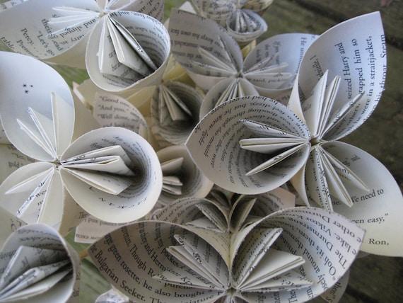 BOOK Bouquet, Origami Paper Flower Bouquet. Birthday, Anniversary, Mother's Day, Wedding