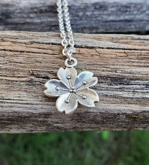 Cherry Blossom Necklace. Sakura Necklace, Gift For Wedding, Bridesmaids, Anniversary, Birthday, Christmas. Japanese