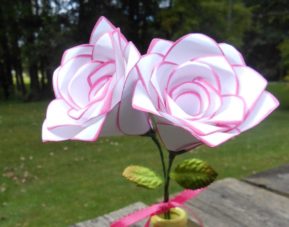 Paper Roses. CHOOSE YOUR COLORS. Mother's Day, Anniversary Gift, Wedding,