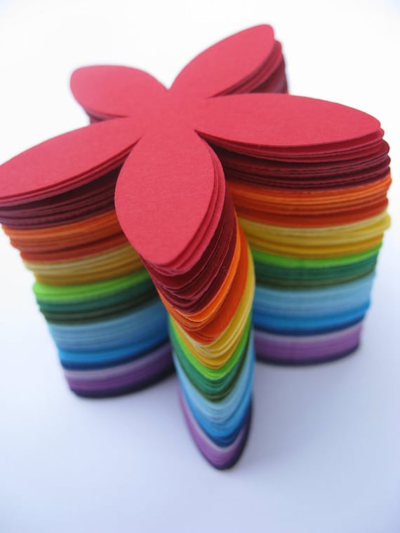 120 Rainbow Flowers. 2 inch. Or CHOOSE Your COLORS. ROYGBIV