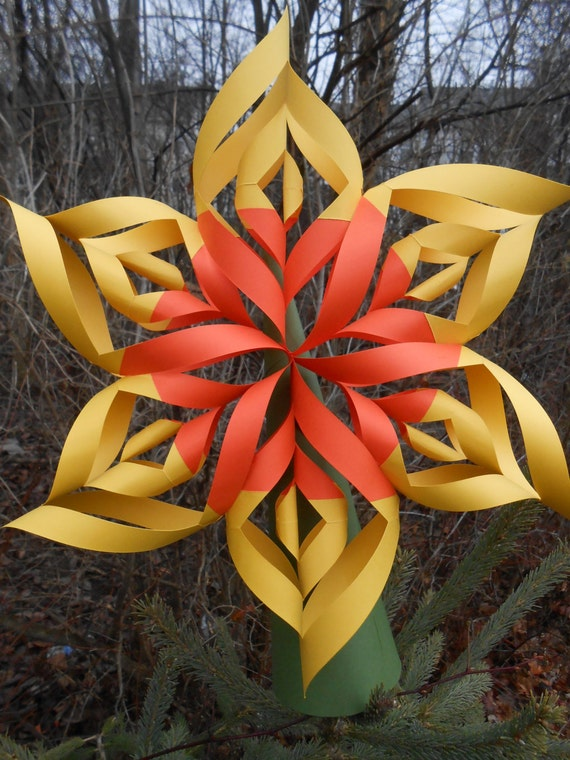Christmas Tree Topper. CHOOSE YOUR COLORS. Twisted Star, Rustic Decoration, Holiday. Table Decoration.
