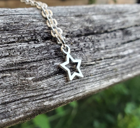 Silver Star Necklace. Gift For Mom, Girls, Wedding, Bridesmaids, Anniversary, Birthday, Christmas.