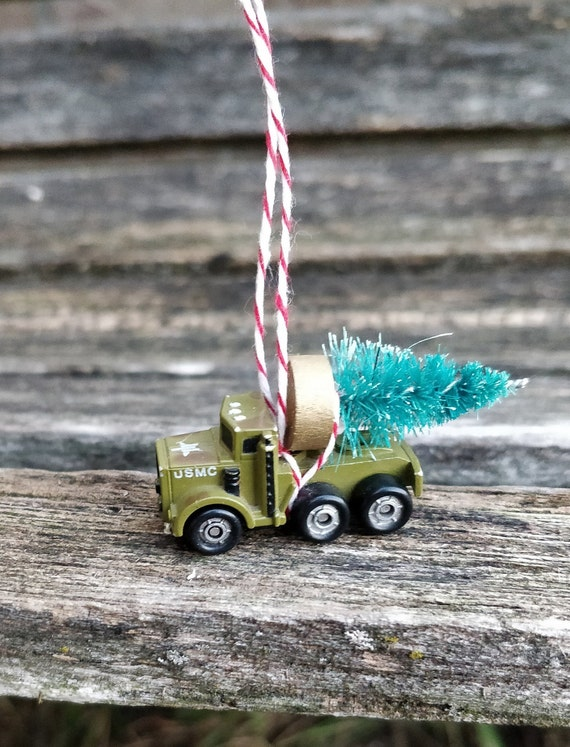Vintage Military Truck Ornament. Perfect GiFt. Unique, Christmas, Holiday, Anniversary.