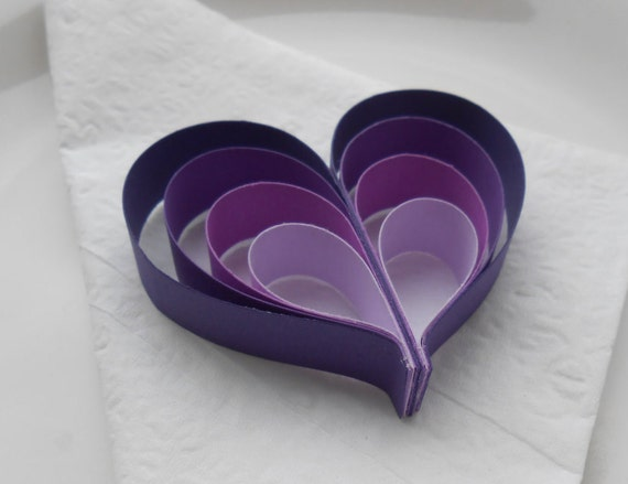 Wedding Favor Hearts. CHOOSE YOUR COLORS. Wedding Favor, Table Decoration. Guest, Paper Decorations. Biodegradable