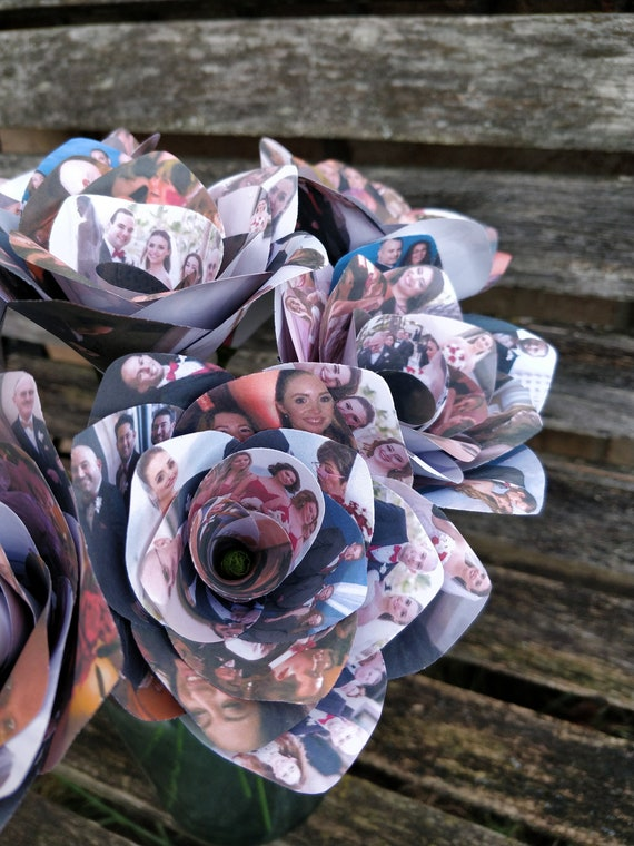 PERSONALIZED PHOTO Roses. Gift, Birthday, Anniversary, Wedding.