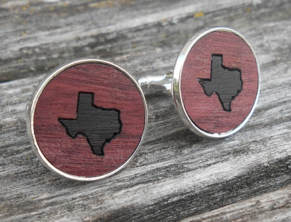 Wood Inlay State Cufflinks. Choose Your States. Wedding, Groom, Anniversary, Groomsmen Gift, Dad. Birthday
