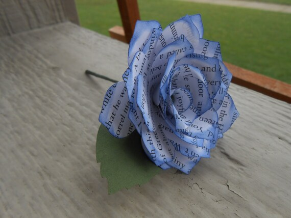 Book Paper Rose Boutonnieres. CHOOSE Your BOOK & COLORS.  Any Amount, Colors, Theme, Etc. Custom Orders Welcome.