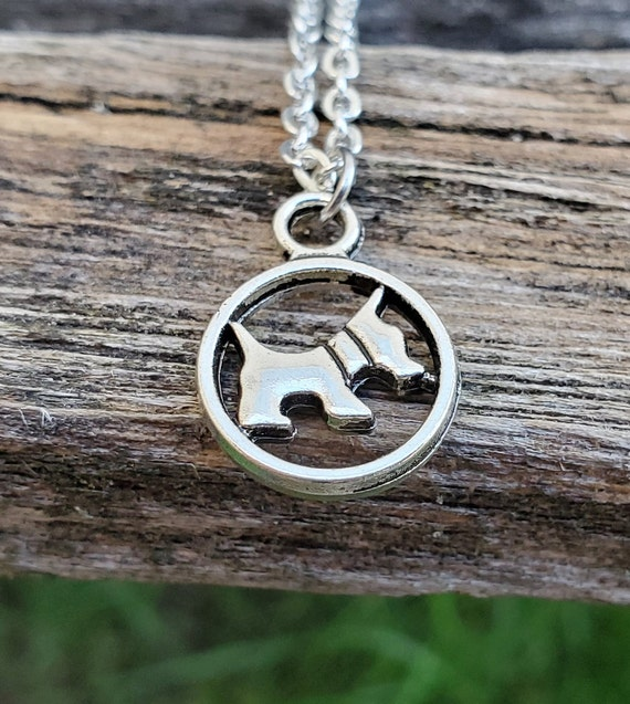 Scottish Terrier Necklace. Dog Lover, Gift For Mom, Anniversary Gift, Birthday, Scottie Necklace