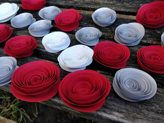 Rolled Roses. CHOOSE YOUR COLORS! Favor, Wedding Decor, Cake, Centerpiece,