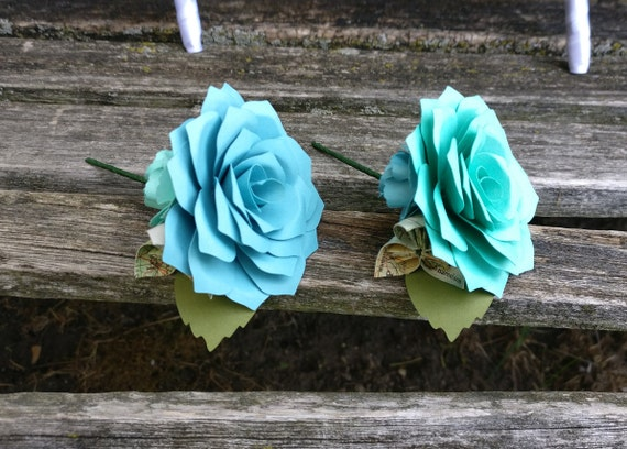 Custom Boutonnieres. CHOOSE Your COLORS! Any Amount. Custom Orders Welcome. Wedding, Prom, Mother of the Bride Groom