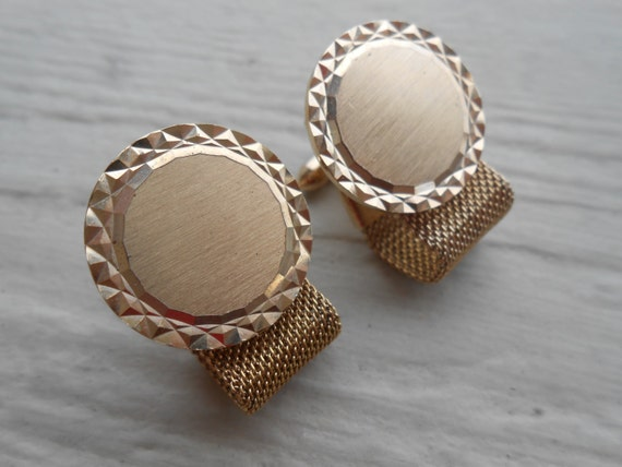 Vintage Gold Cufflinks. Wrap-Around. Wedding, Men's, Father's Day, Birthday Gift, Dad. CUSTOM Orders WELCOME