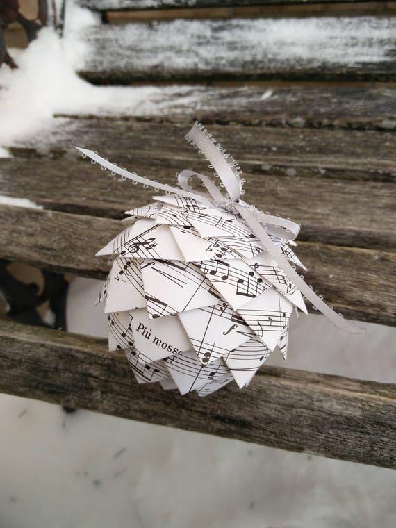 Vintage Sheet Music Ornament. Decoration, Christmas, Gift, Birthday, Anniversary, Wedding.