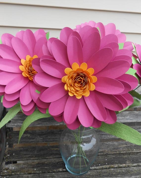 Huge Daisy Bouquet. CHOOSE YOUR COLORS. Centerpiece, Anniversary, Wedding, Shower, Birthday, Bar Mitzvah. Gerber, Gerbera