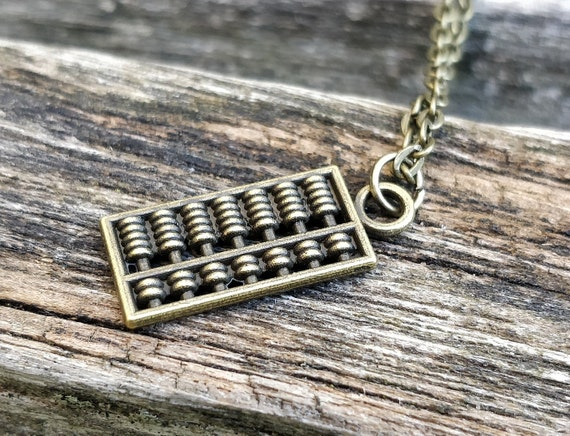 Abacus Necklace. CHOOSE YOUR COLOR. Geek Gift, Anniversary Gift, Birthday Gift.