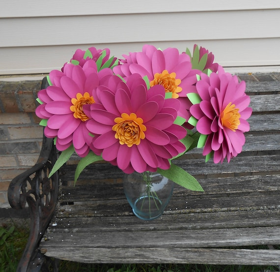 Huge Daisy Bouquet. CHOOSE YOUR COLORS. Centerpiece, Anniversary, Wedding, Shower, Birthday, Bar Mitzvah. Gerber, Gerbera