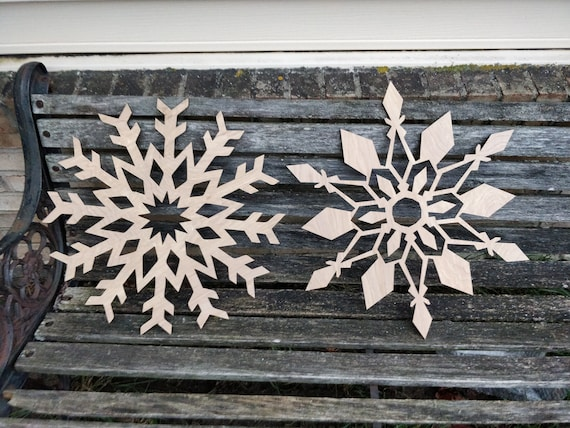 Huge Snowflake. 17 Inch. Large Laser Cut Wood. Christmas, Holiday Decoration, Gift. Door Hanger.
