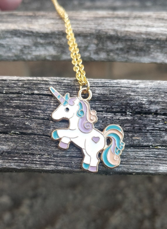 Unicorn Necklace. Gift For Girls, Mom, Wedding, Bridesmaids, Anniversary, Birthday, Christmas. Purple Pony