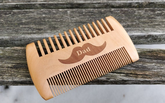 Customized Beard Comb. Mustache Comb. Engraved. Wedding, Groomsmen Gift, Dad, Anniversary, Birthday, Christmas, Personalized Gift