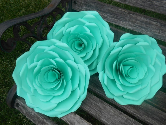 Rose Paper Flower Display, Choose Your Colors!!! Wedding Decoration. You CHOOSE The COLORS.  Huge Rose Decoration. Custom Orders Welcome.