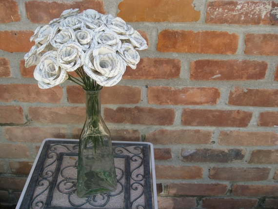 BOOK Roses. Large Bouquet. Perfect for First Anniversary, Weddings, Birthdays. Unique Gift. CUSTOM ORDERS Welcome
