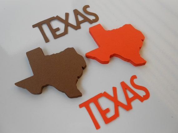 50 TEXAS State Shapes. CHOOSE Your COLORS. 3 inch. Escort Cards, Place Tags, Gift Tags, Wishing Tree.