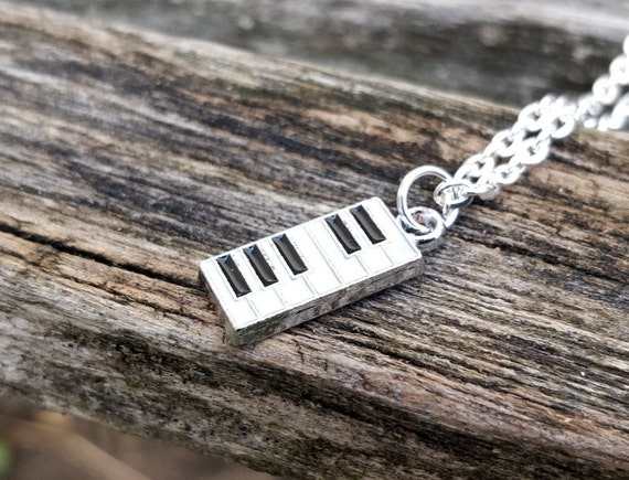 Piano Necklace. Birthday Gift, Wedding Gift, Bridesmaid, Mom, Anniversary Gift. Musician Gift