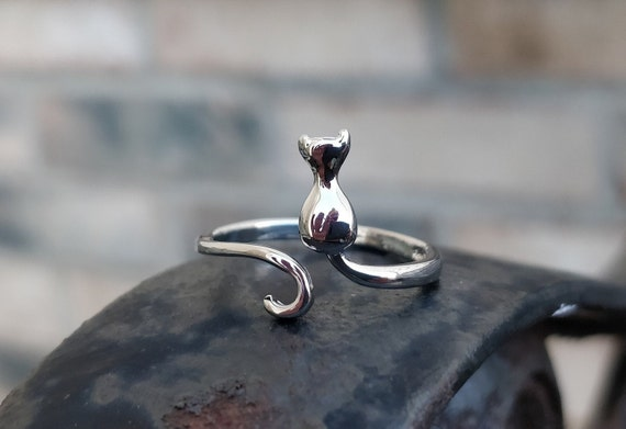 Adorable Cat Ring. Adjustable. Gift For Birthday, Christmas, Gifts For Her. Cat Lover