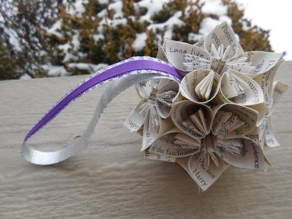 BOOK Kusudama Ball. Gift, Anniversary, Valentines, Birthday, Wedding Favor,