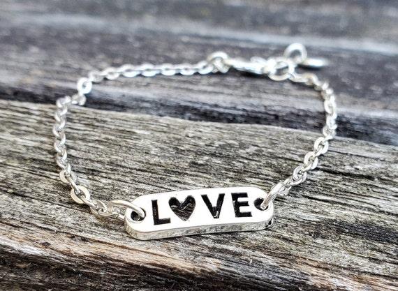 Love Bracelet. Anniversary Gift, Birthday Gift, Gift For Mom, Kids Gift. Heart Bracelet