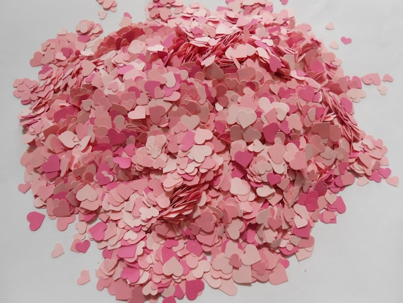 10,000 Mini Confetti Hearts. In PINKS. Weddings, Showers, Decorations. ANY COLOR Available.