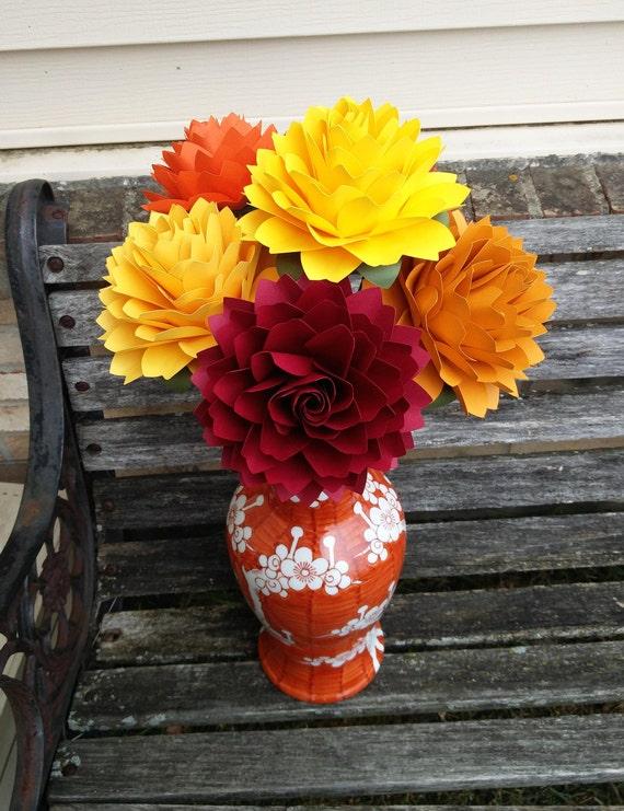 Huge Dahlias, CHOOSE YOUR COLORS. Centerpiece, Anniversary, Wedding, Shower, Birthday, Bar Mitzvah