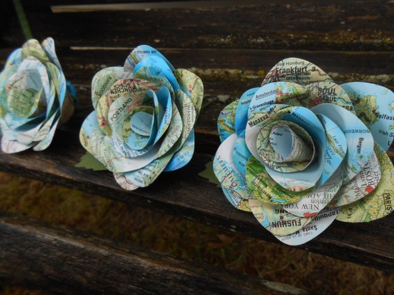 Paper Flower Boutonnieres.  Any Amount, Colors, Theme, Etc. Custom Orders Welcome.
