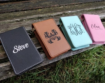Personalized Manicure Kit. Leather, Laser Engraved. Wedding, Groomsmen Gift, Anniversary. Groom, Birthday, Christmas, Mom. Nail. Grooming